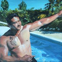 Portrait Jim, huile sur toile, 73x92 cm, réalisé par Natpalette