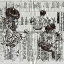 Les orfèvres de Sagaing, stylo sur papier journal birman, réalisé par Natpalette