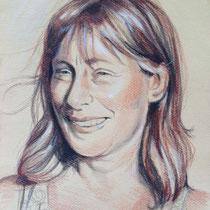 Portrait femme, aux trois crayons, 29.7x21 cm, réalisé par Natpalette