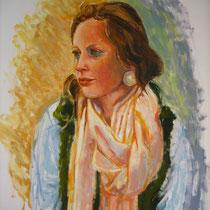 Joséphine  64x50cm  Huile sur papier