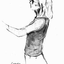 Marie-Christine Godin  - Cueillette  Crayon sur papier