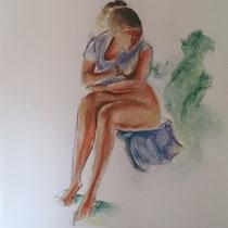 Fusain et pastel sur papier - Emmanuelle Bonneau