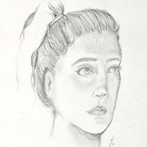Un portrait au crayon - Lucile Constant