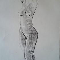Fusain sur papier - Fabienne Buzos