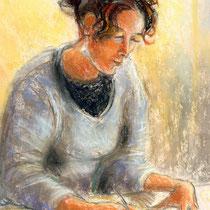 Anne    Pastel sur papier