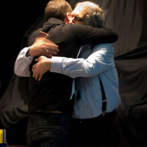 Abrazo de presidentes