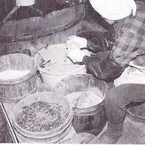 当時の糠漬けの様子 油与商店