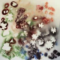 copyright nathalie arun, serie summertime, Mischtechnik auf Leinen, 1m x 1 m, 2013