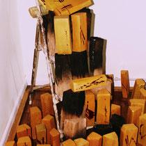 Installation Asche - Gold © Nathalie Arun