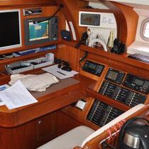 Prüfung der Navigationsgeräte anlässlich dem Gutachten für einen Flaggenschein.