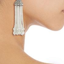 640. Потрясающе красивые серьги от американского дизайнера KENNETH JAY LANE . Ювелирный сплав с родием, декор кристаллами Сваровски. Длина 9.5см. Цена-90$
