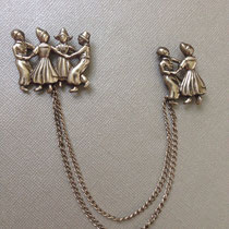 91. Датские коллекционные броши- шатлен. Конец 40х, стерлинговое серебро, ручная работа. Прекрасная сохранность, маркировка.