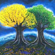 Cecilia Herrera / Amistad / acrilico sobre lienzo / 120 x 100 cms / disponible