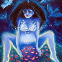 Cecilia Herrera / Parir / acrilico sobre lienzo / 120 x 100 cms / disponible