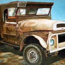 Camión beige / 80 x 60 cms / técnica: óleo sobre tela