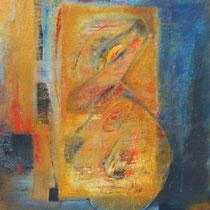 Espitia Galeria / Danilo Sedano / Letargo / Mixta sobre lienzo / 172 x 120 cms