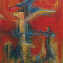 Espitia Galeria / Danilo Sedano / Escape / Mixta sobre lienzo / 172 x 116 cms