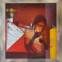 Autoextinción / 80 x 70 cms / técnica: óleo sobre lienzo
