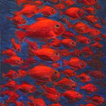 Celilia Herrera / Cardumen / acrilico sobre lienzo / 60 x 40 cms / disponible