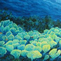 Cecilia Herrera / Abanicos de mar / acrilico sobre lienzo / 96 x 69 cms / disponible