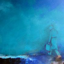 Espitia Galeria / Carlos Hernandez / Desempleado / Mixta sobre madera / 110 x 100 cms