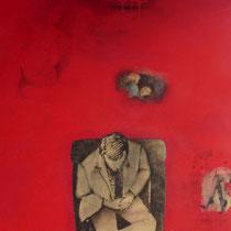 Espitia Galeria / Carlos Hernandez / El Diario de la vida / Mixta sobre madera / 120 x 60 cms