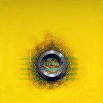Metal amarillo / 100 x 100 cms / técnica: acrílico sobre lienzo
