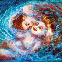 Cecilia Herrera / Amar / acrilico sobre lienzo / 96 x 69 cms / disponible