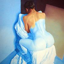 Espitia Galeria / Ignacio Leon Manjarres / Secreto / Oleo sobre tela / 100 x 80cms