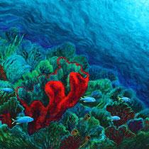 Cecilia Herrera / Coral rojo / acrilico sobre lienzo / 120 x 100 cms / disponible