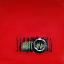 Cortina roja / 160 x 120 cms / técnica: acrílico sobre lienzo