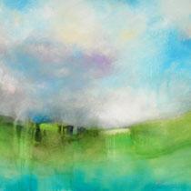 Espitia Galeria / Carlos Hernandez / Siempre hay un nuevo dia / Mixta sobre tela / 110 x 100 cms