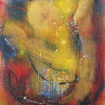 Espitia Galeria / Danilo Sedano / Musico Celestial / Mixta sobre lienzo / 172 x 118cms