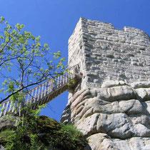© Traudi – Ruine Weißenstein  -  Kommt mit! Hier geht's steil hinauf.