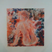 Incandescence monotype (2012) 15 x 15 cm