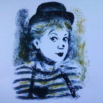 Gelsomina (La Strada) monotype (2012) 15 x 20 cm