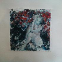Un jour...l'été monotype (2012) 15 x 15 cm