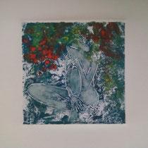 Dans ses pensées 3 monotype (2012) 15 x 15 cm