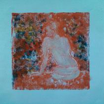 Le repos 3 monotype (2012) 15 x 15 cm