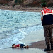 Aylan Kurdi, Sinnbild für die Flüchtlingstragödie.