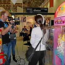 TV-Filmaufnahmen bei Popcorn-World