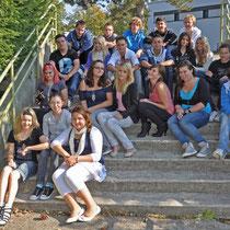 Klasse 9a mit ihrer Klassenlehrerin Sabrina Vogtmann