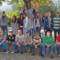Klasse 9b mit ihrem Klassenlehrer Dietmar Gatermann