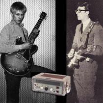 """Joe Brown kreeg een Meazzi Echomatic 1  om hem uit te proberen met zijn gitaar,. Hij kon er niet goed mee overweg, en vroeg Hank om hem ook eens te testen. Hank experimenteerde wat met de Meazzi en vond, uiteindelijk de later zo befaamde """"Shadows sound"""""""