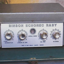 Baby Binson Echorec 1961 - 1980  Binson was net als Meazzi een Italiaanse fabrikant van echo-units in Milaan   De Binson echo-units werd geïntroduceerd in de late jaren '50.