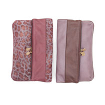 B FLO Clutches animal print & mauve