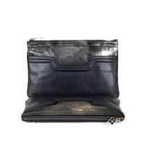 B FLO Clutches black & brown