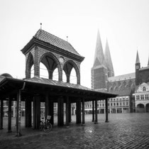 Lübeck Marktplatz - 4x5 Pinhole Photography  | Harman Titan 4x5 pinhole camera | Ilford FP4 Plus in Ilfosol 3