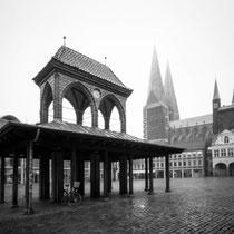 Lübeck Marktplatz - 4x5 Pinhole Photography  | Harman Titan 4x5 pinhole camera | Ilford FP4 Plus in Ilfosol 3
