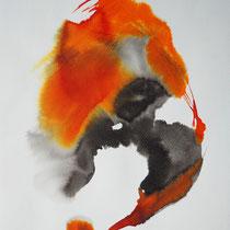 """""""Tinta 1"""", tinta sobre papel, 42 x 30 cm, 2011"""